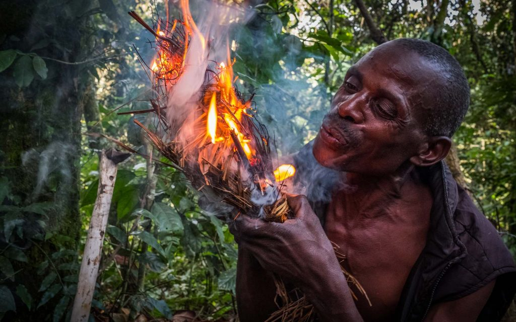 Batwa people in Bwindi Impenetrable National Park