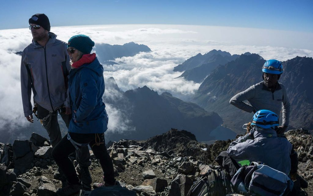 Climbing rwenzori mountains in Uganda
