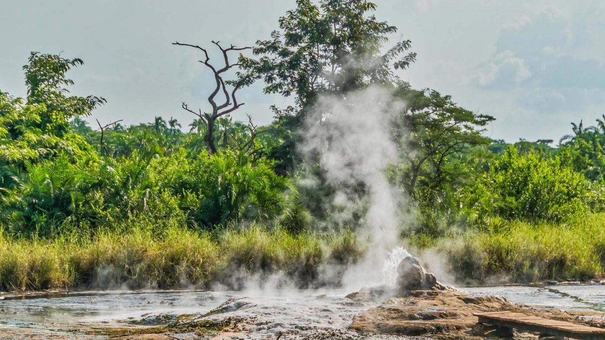 Semliki National Park Hot Springs in Uganda